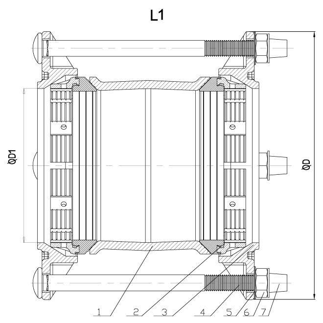 Муфта соединительная фиксирующая RC-R13 схема
